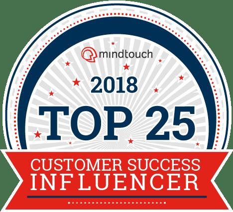 2018 Top Customer Success - Top 25 Badge